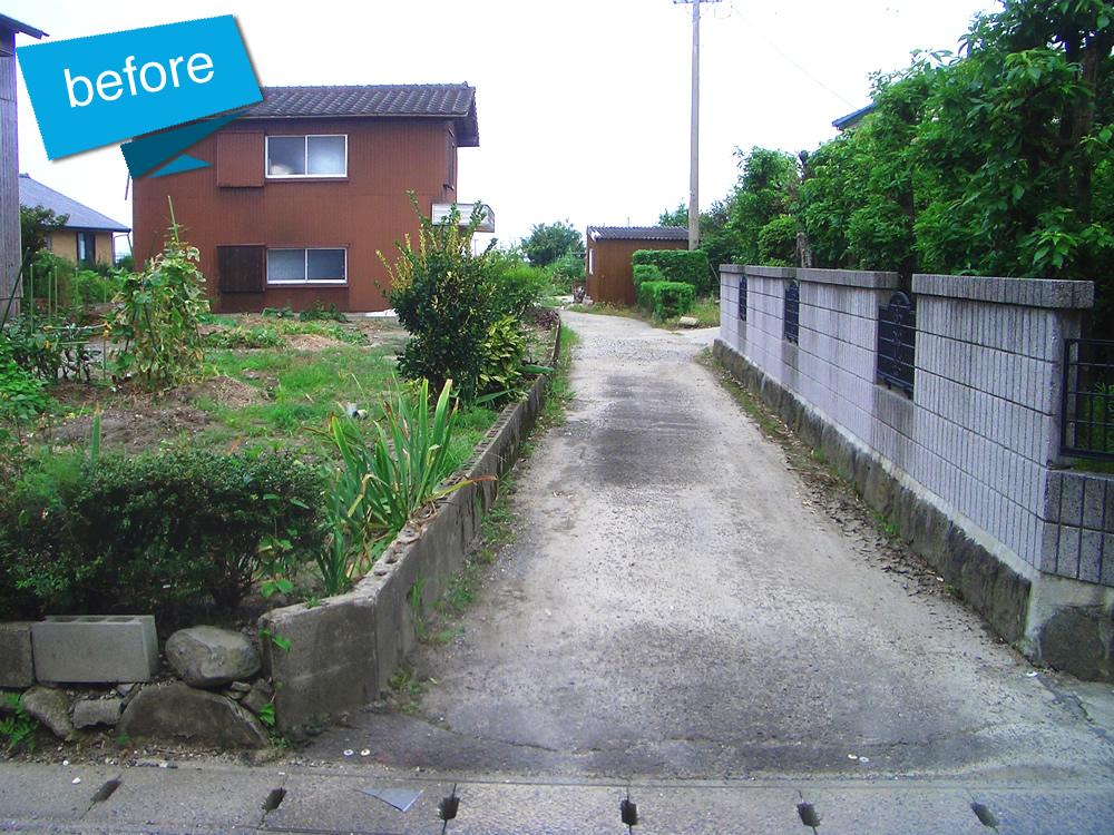 吉村村中線道路改良工事 着工前