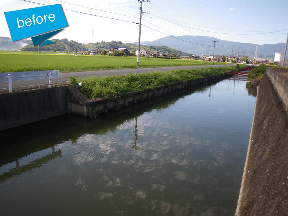 佐賀県中部地区県営地盤沈下対策事業工事 着工前