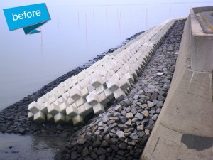 西川副地区 県営保全施設整備事業工事 着工前