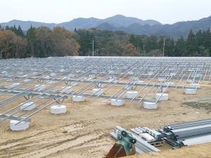 太陽光発電架台工事